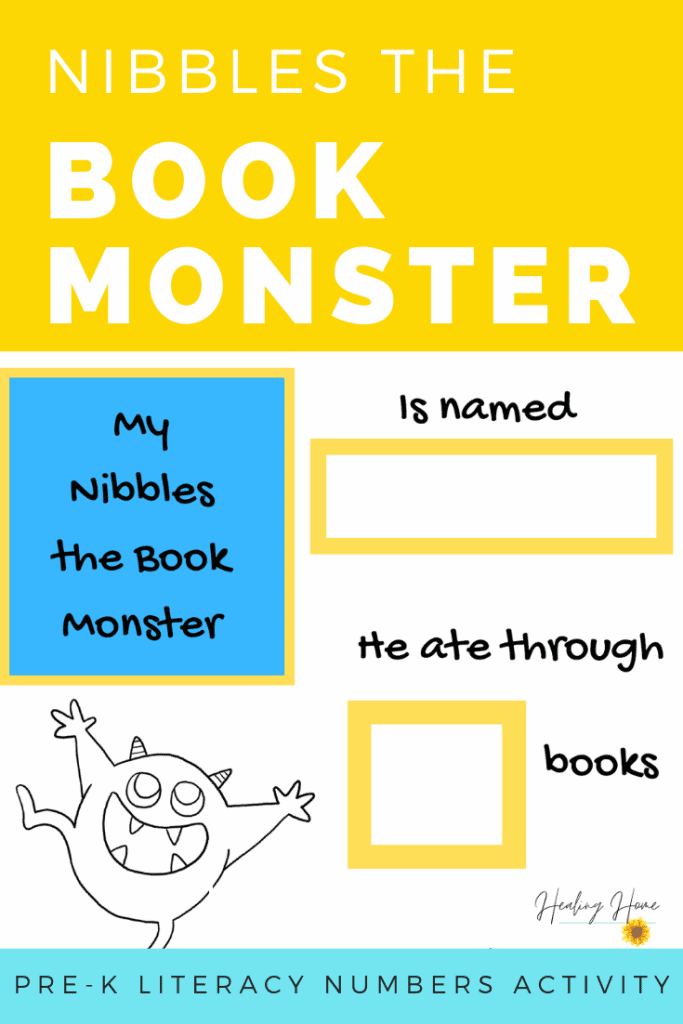 Nibbles the Book Monster Activities