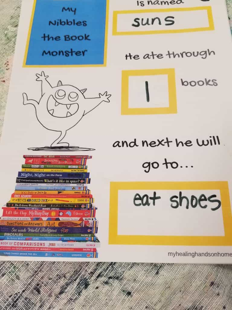 Nibbles the Book Monster
