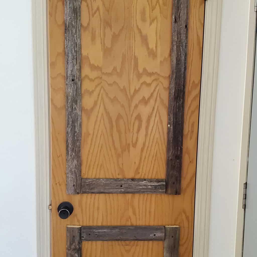 completed wood door