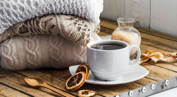 coffee cup in a home