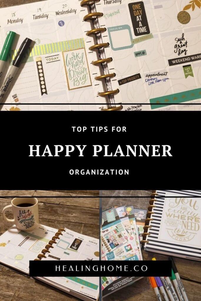 happy planner organization