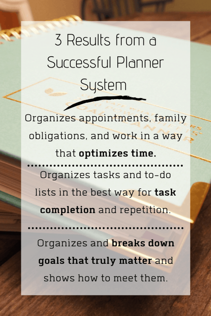 3 Results from a Successful Planner System