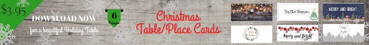 Ad for Etsy Christmas Table Place Cards