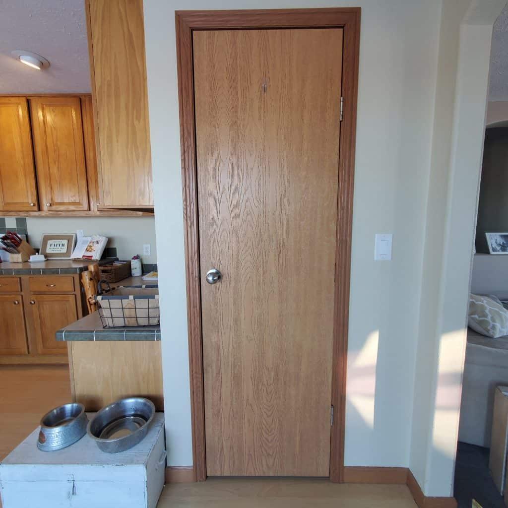 before pantry door