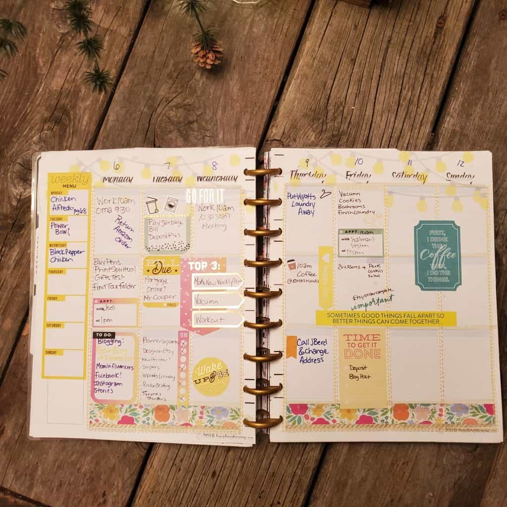 Separate Home and Work Planner Columns