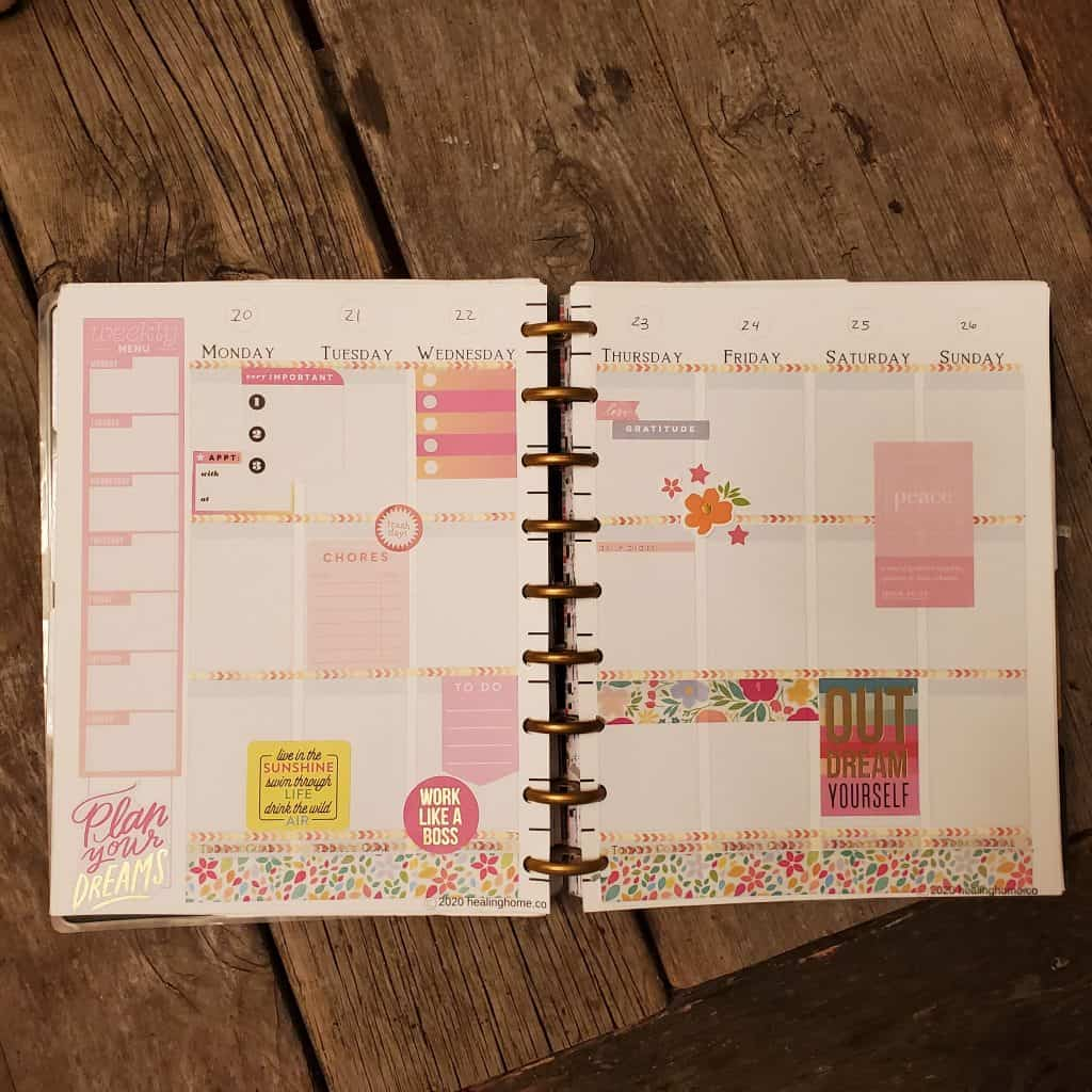 Meal Planning with the Happy Planner