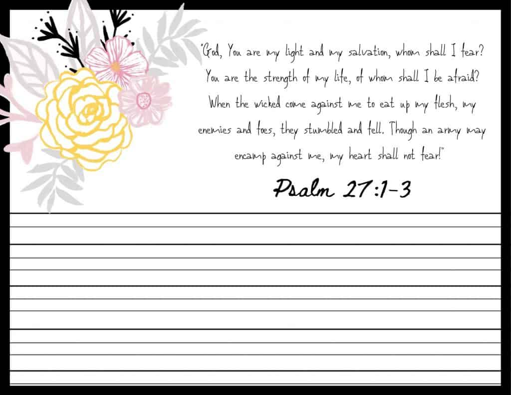 Psalms for Worry Memorization Cards