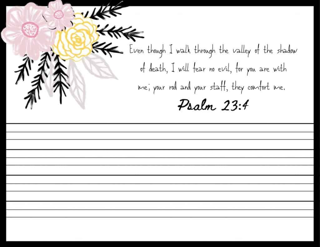 Psalms for Worry Scripture Memorization Cards