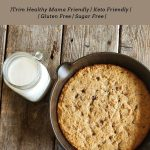 skillet cookie cake with almond milk
