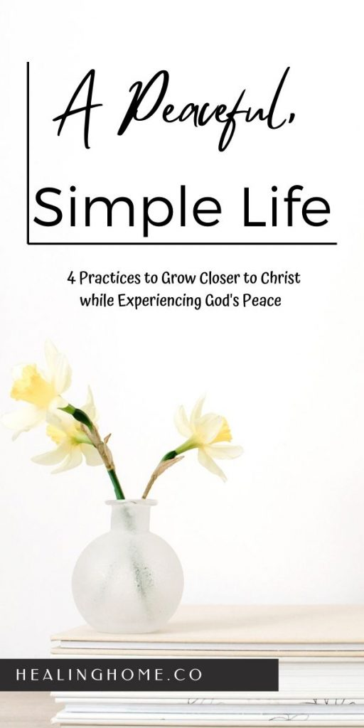 flowers on a table with experiencing God's peace