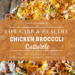 chicken brocccoli casserole with title for pinterest