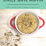 single serve muffin pinable image