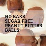 sugar free peanut butter balls