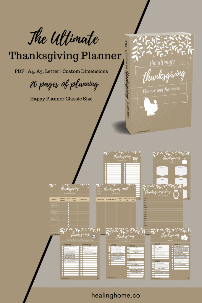 Thanksgiving planner images for pinterest
