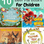 Fall books for children pinterest image with all the book images