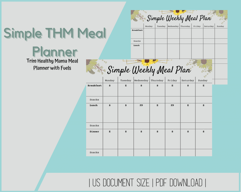 Simple THM Meal Planner
