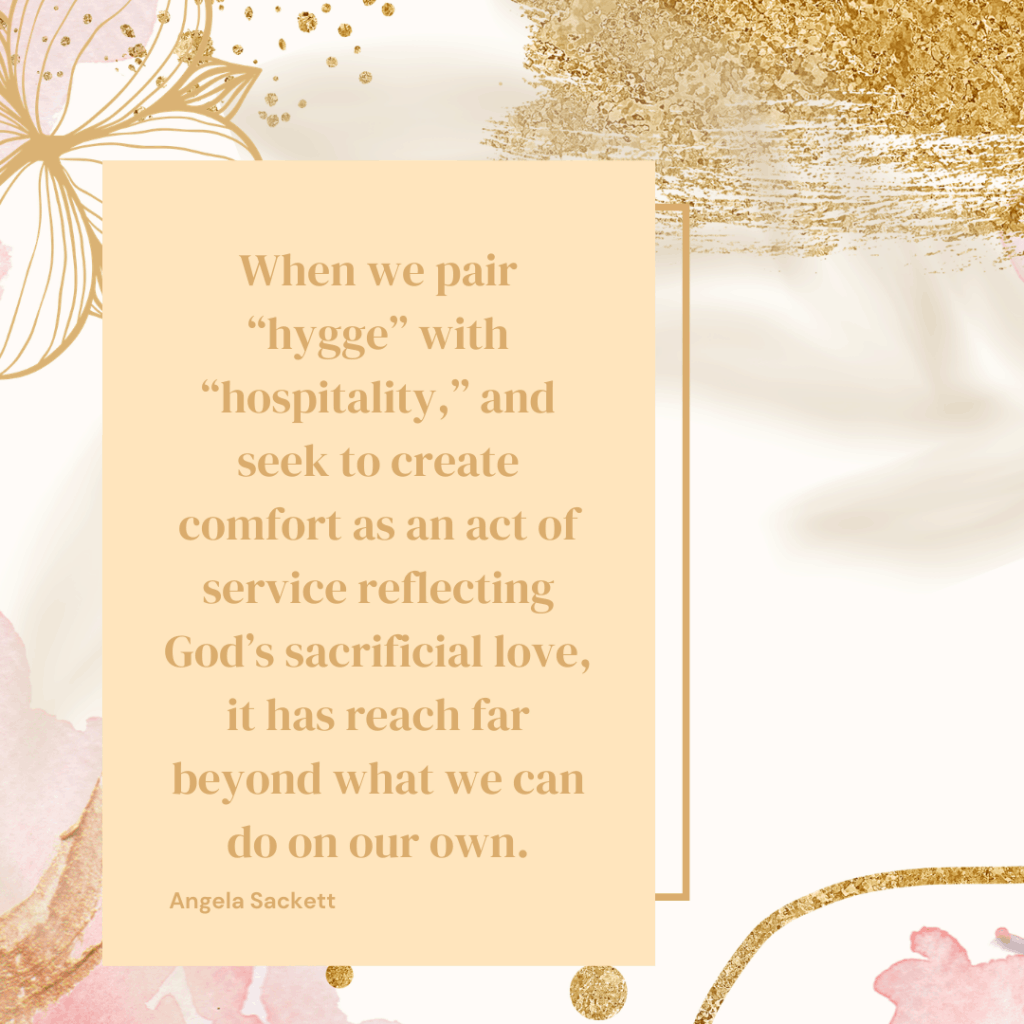 hygge home quote by Angela Sackett