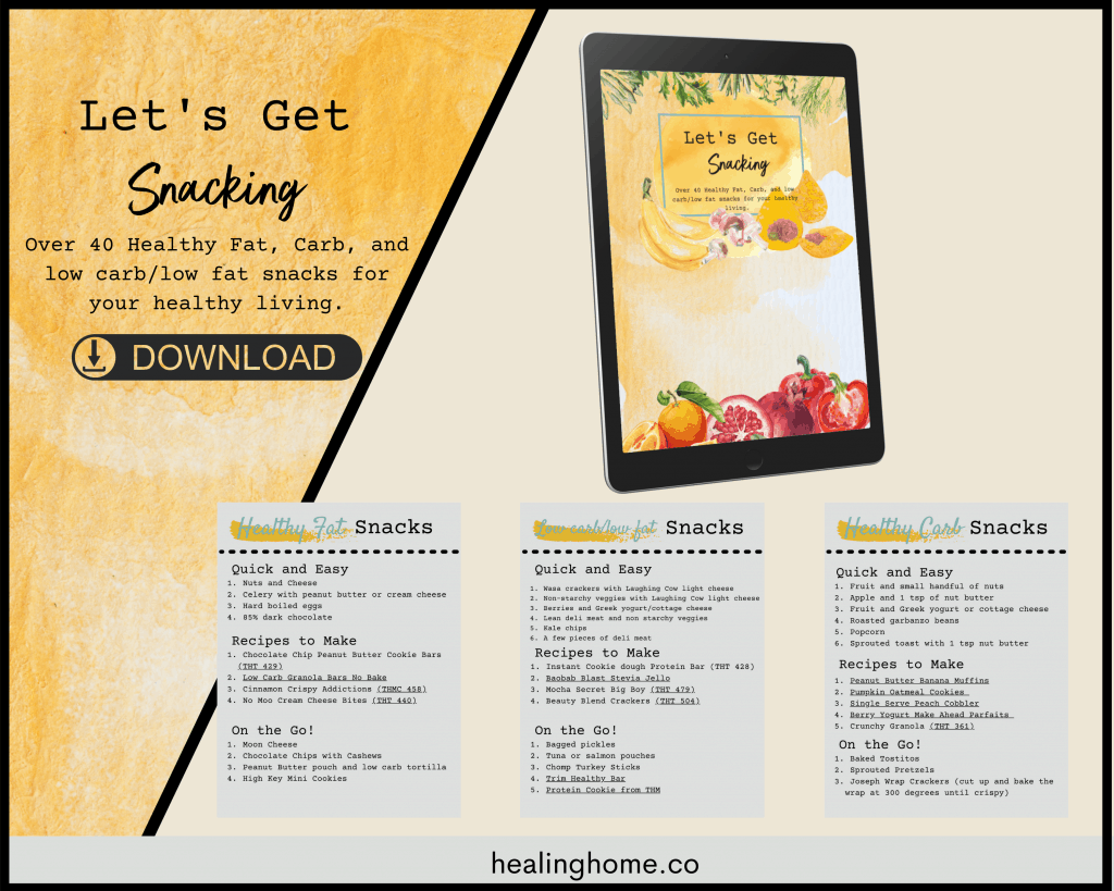 Let's get snacking downloadable PDF