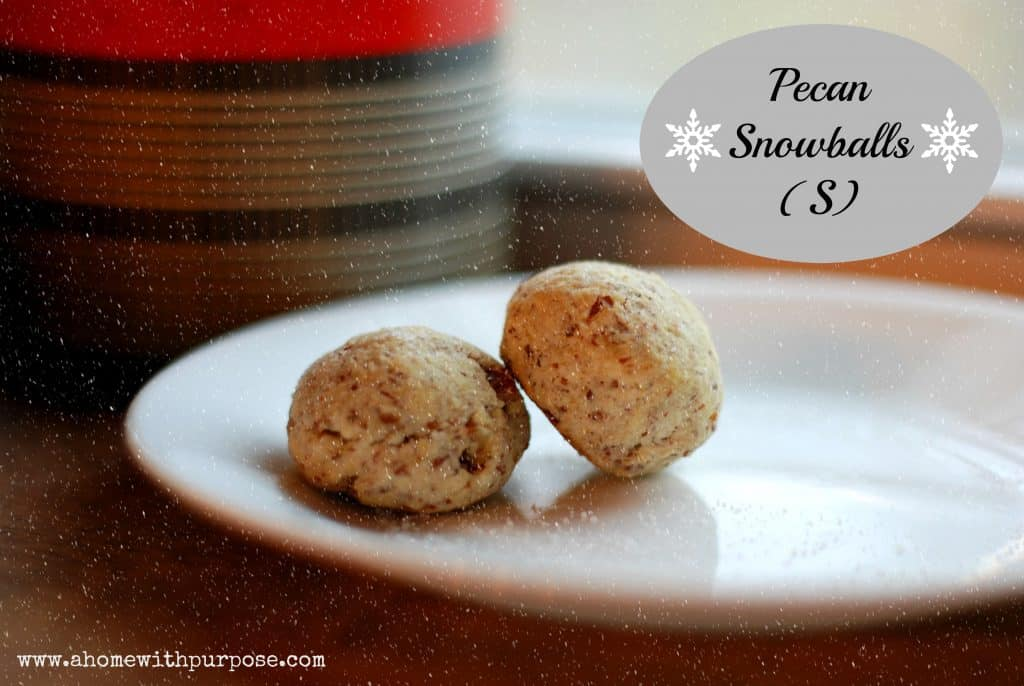 snowball cookies from a home with a purpose