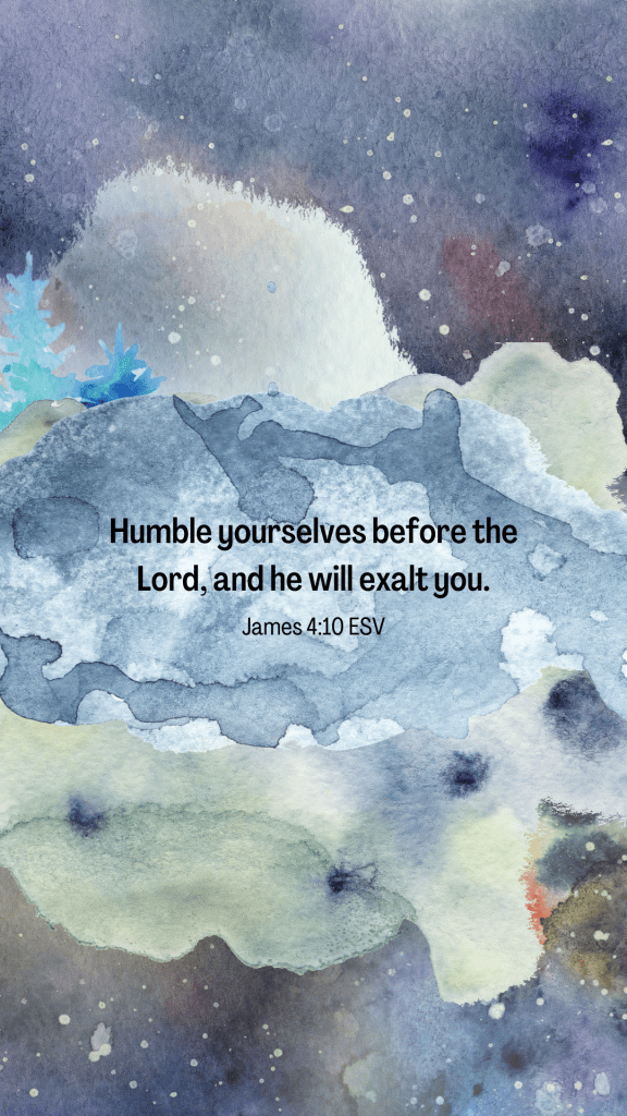 humility scripture wallpaper with watercolors