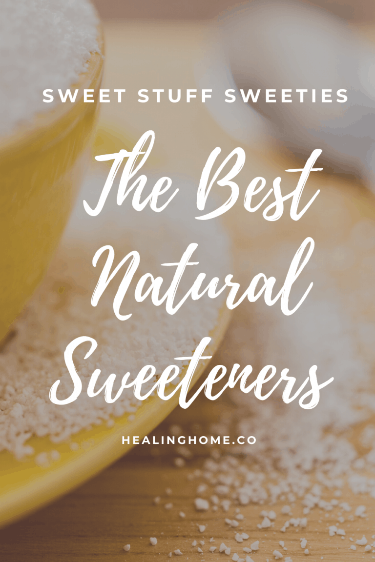 Natural sweeteners with yellow bowl of sugar