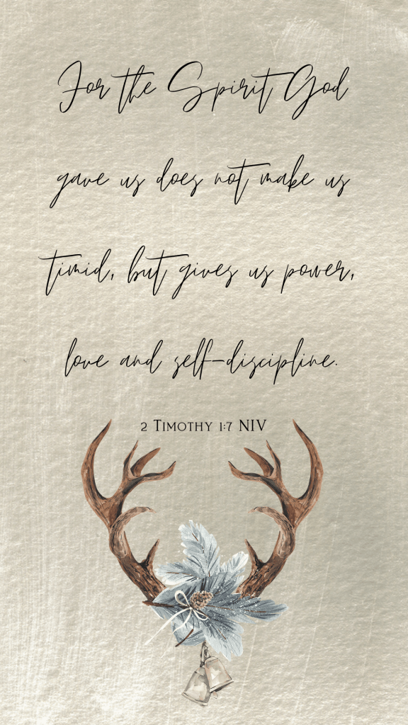 scripture on 2 Timothy 1:7