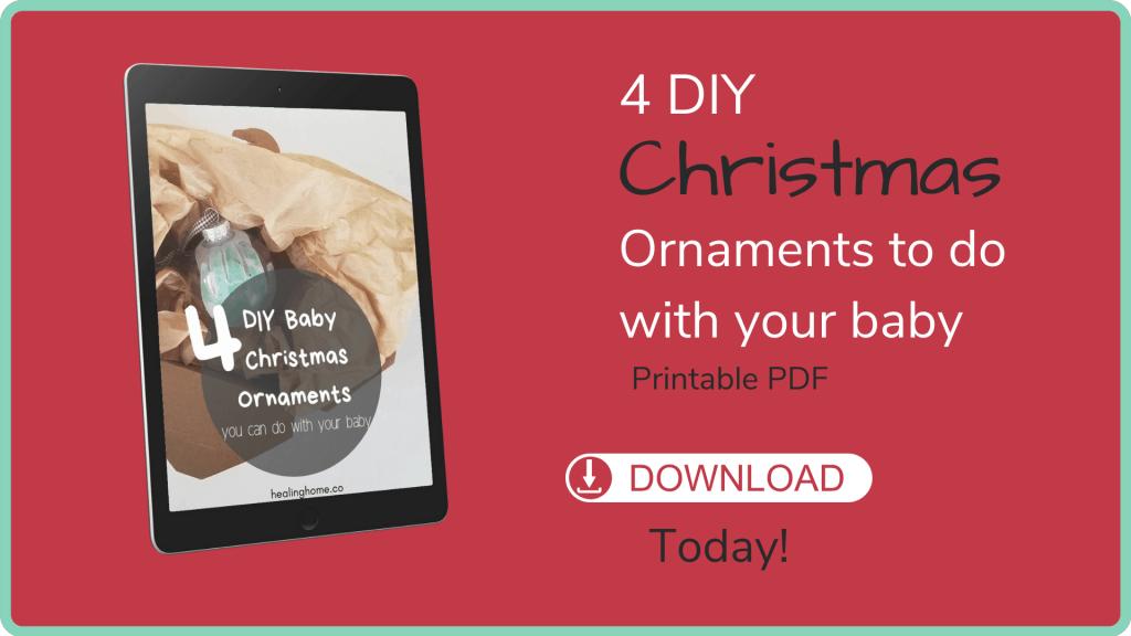 Christmas ornaments prinatable PDF
