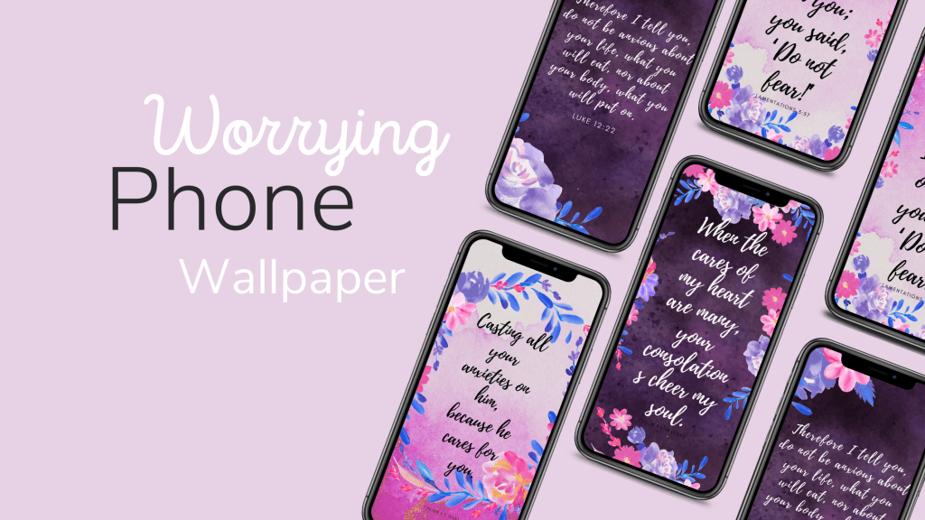 Worrying phone wall paper