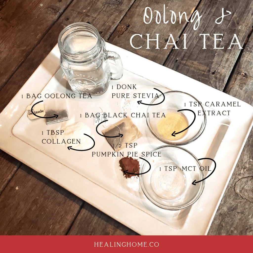 Oolong and Chai tea ingredient list image