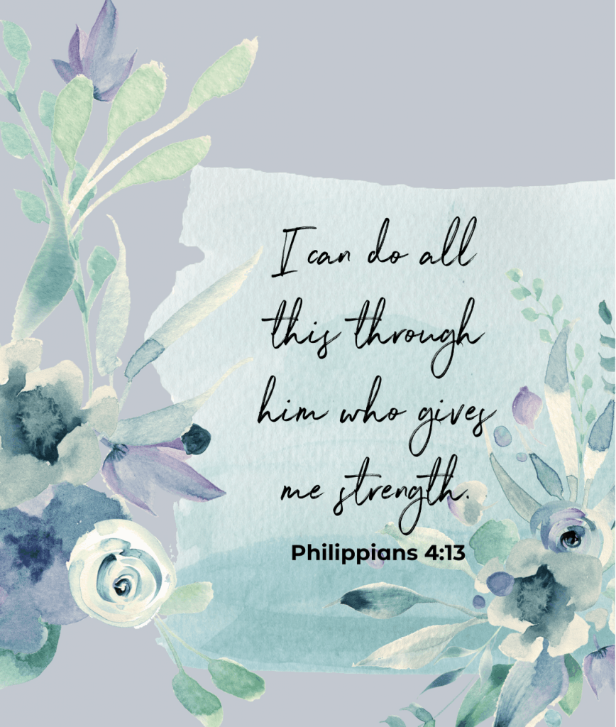bible verse about self image with Philippians 4:13