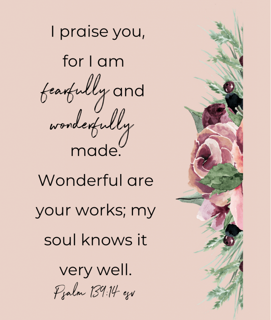 fearfully and wonderful made scripture