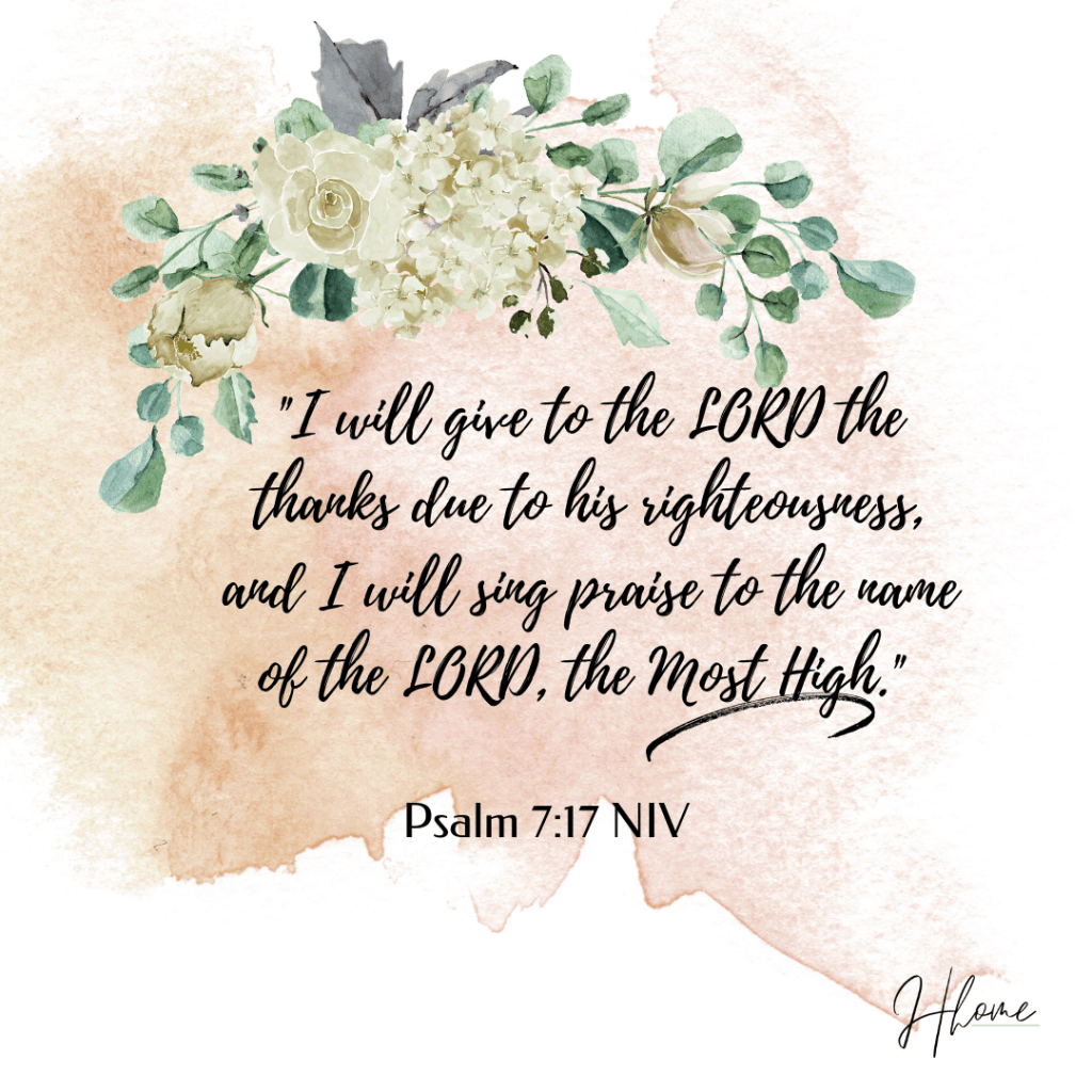 Giving Thanks to God Bible Verse