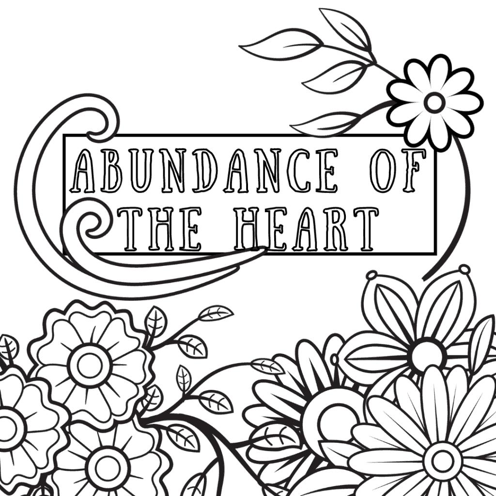 Abundance coloring page