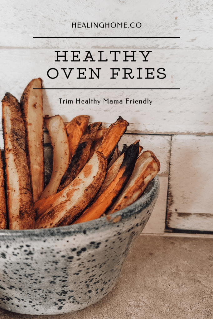 healthy oven fries on a table