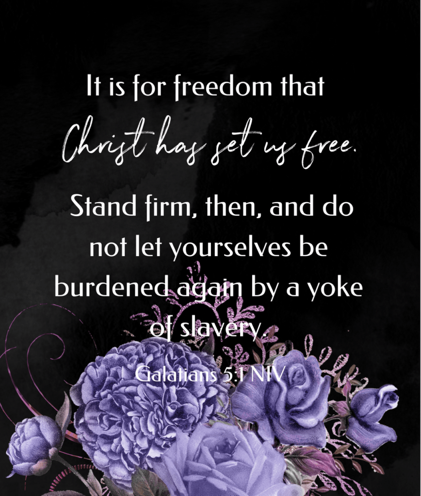 scripture for set free from sin