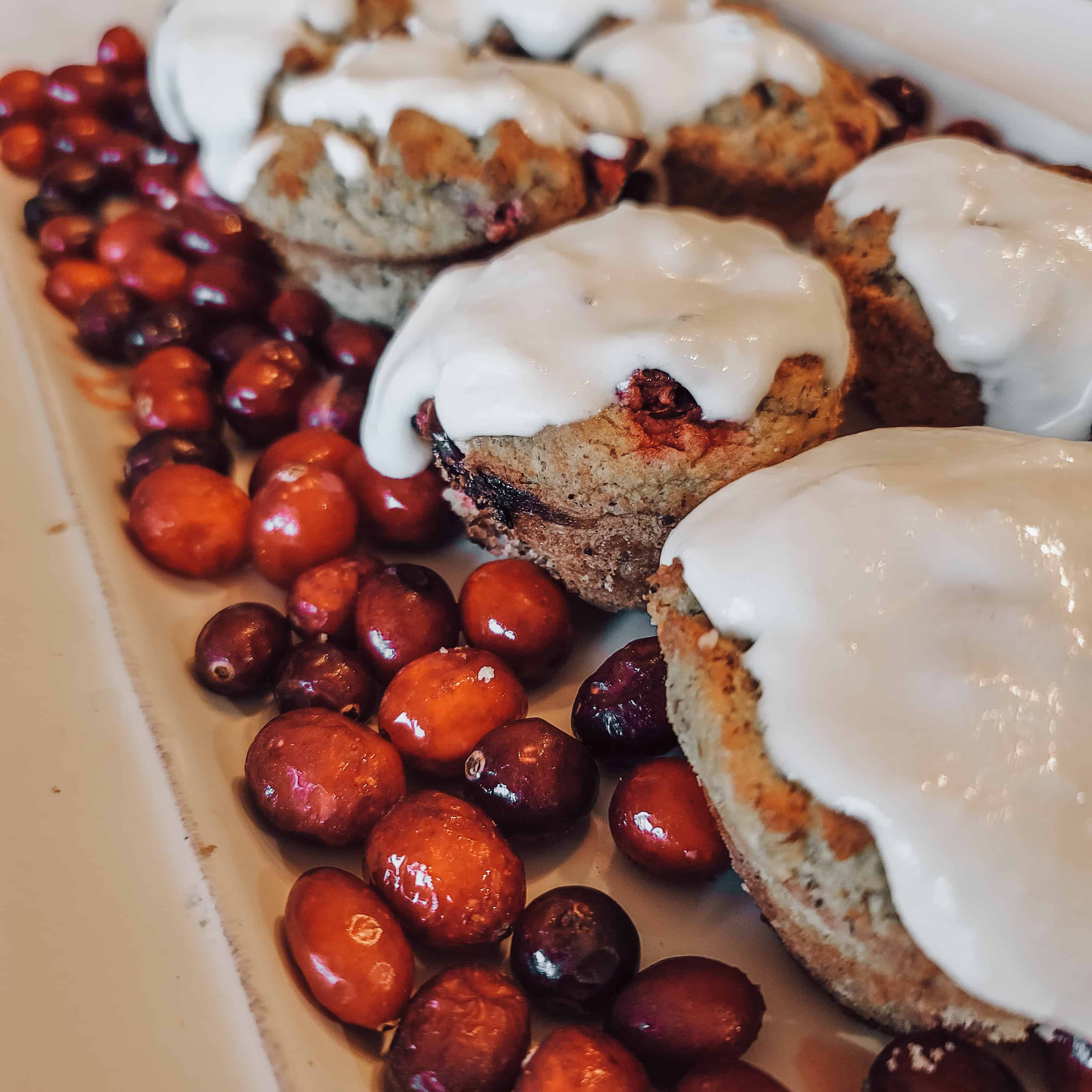 glazed cranberry muffins