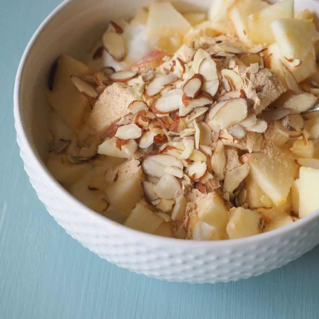 yogurt with almonds