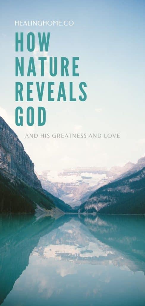 nature reveals God