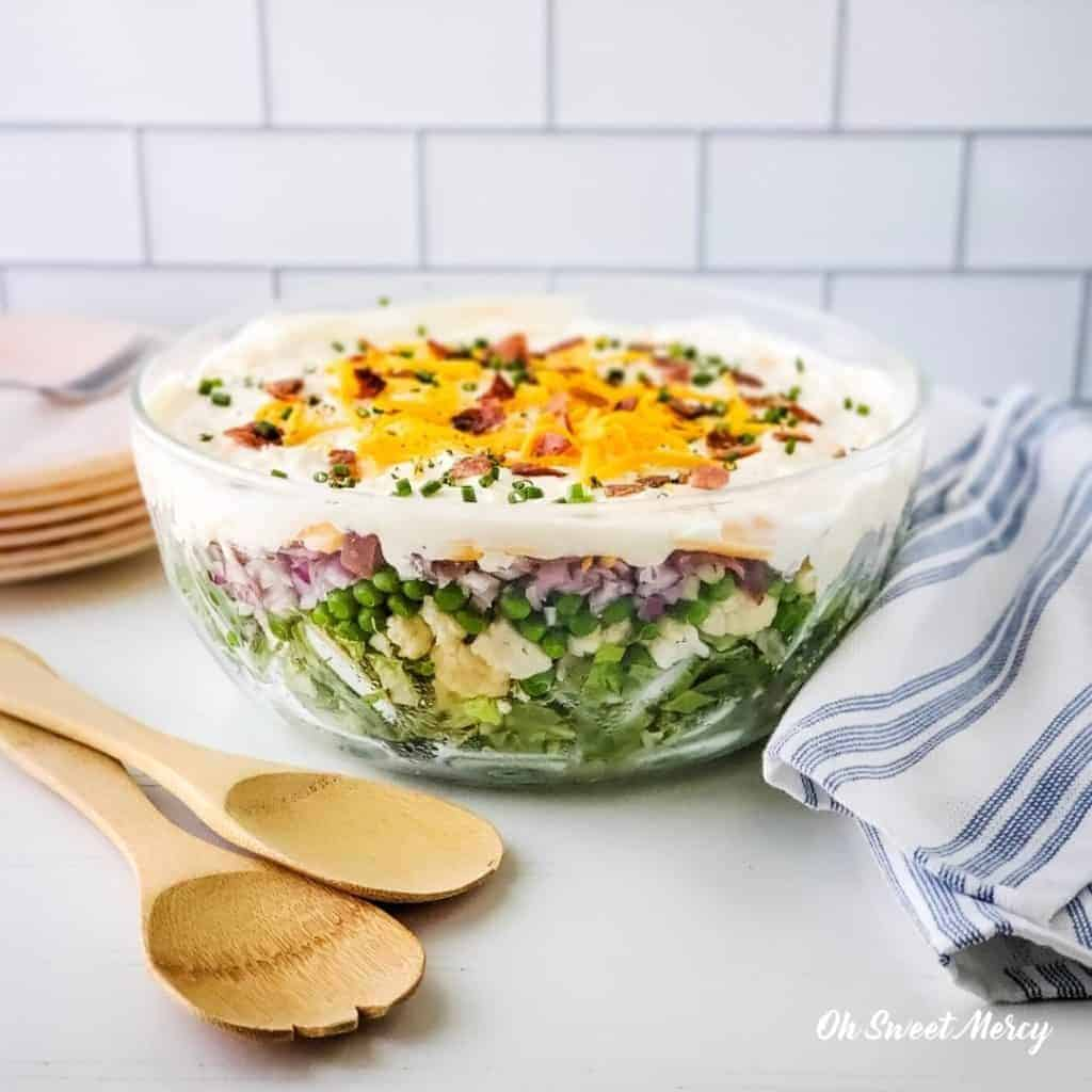 7 layer salad with thm side dishes