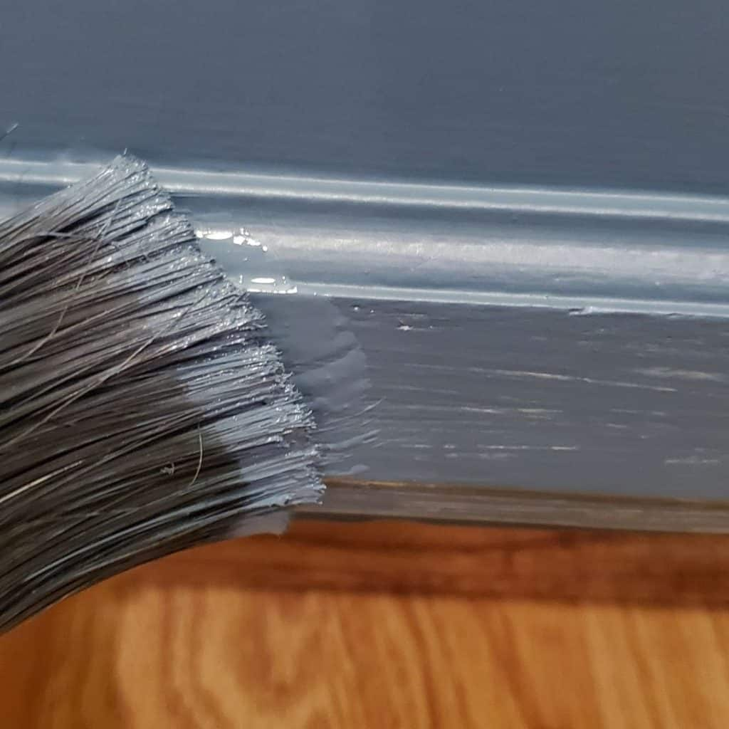 painting with old paint brush