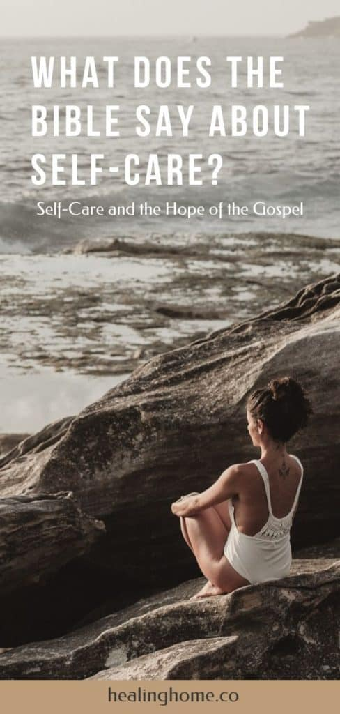 what does the Bible say about self-care women on a beach