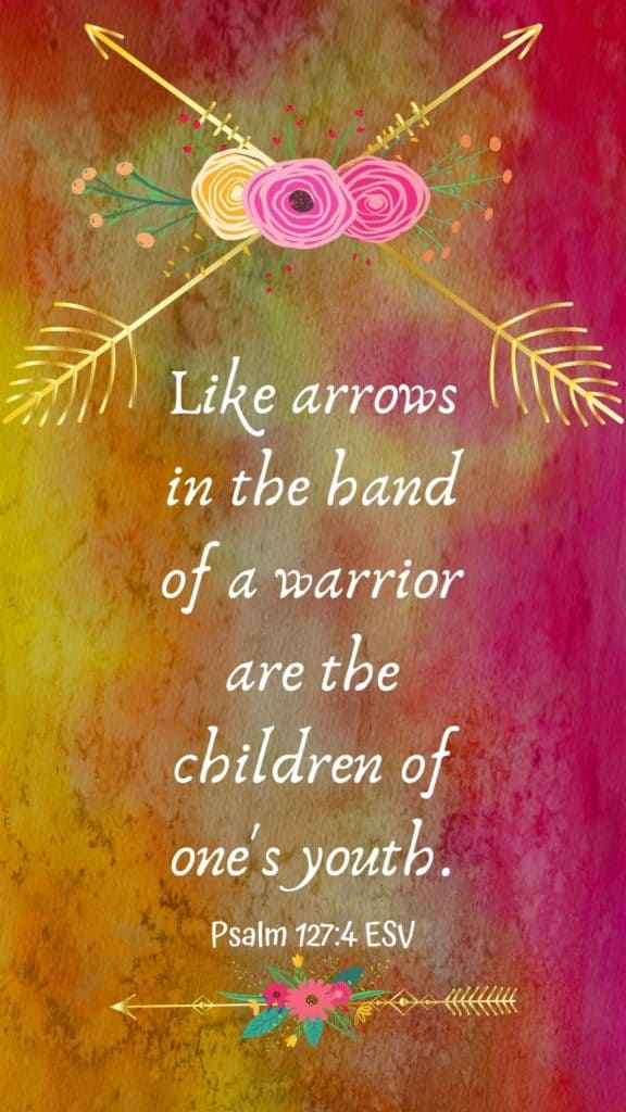 golden colors with bible verse and arrows
