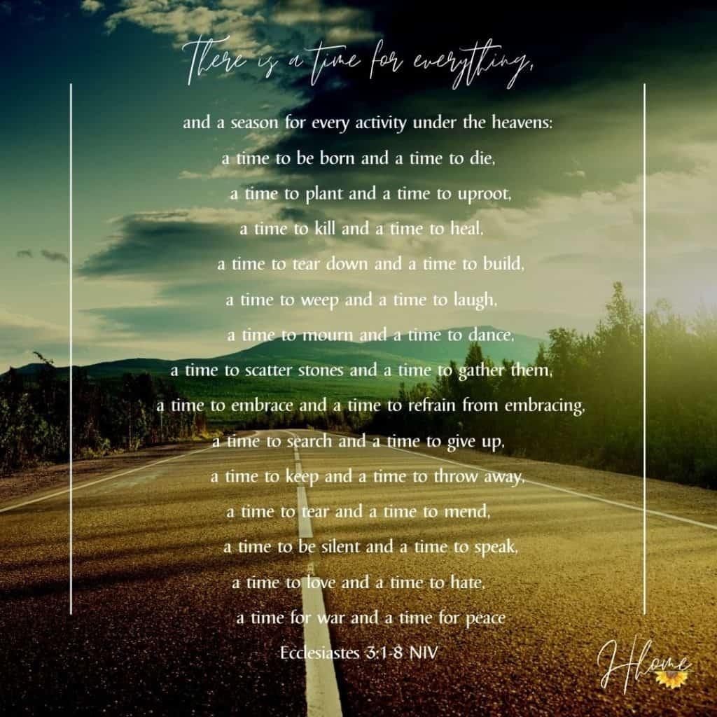 on a raod with ecclesiastes 3 written