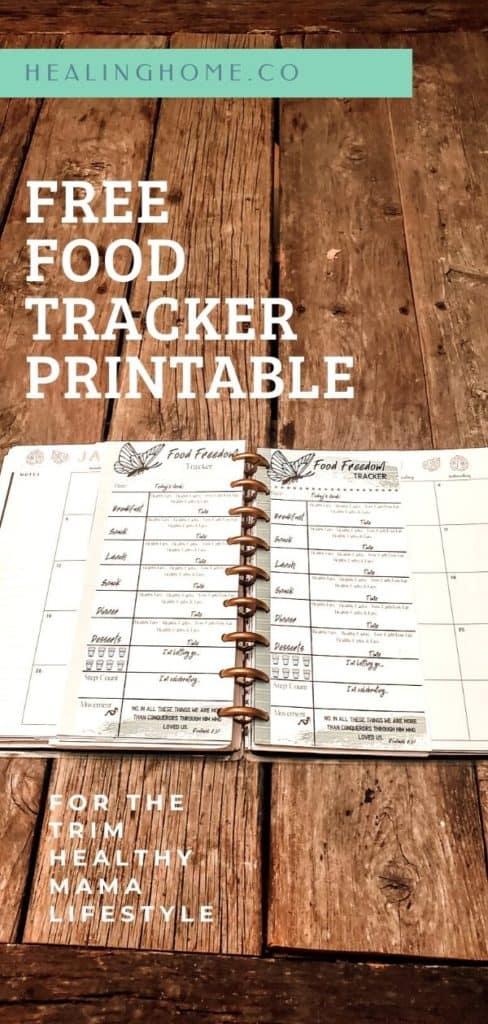 free food tracker printable on a table
