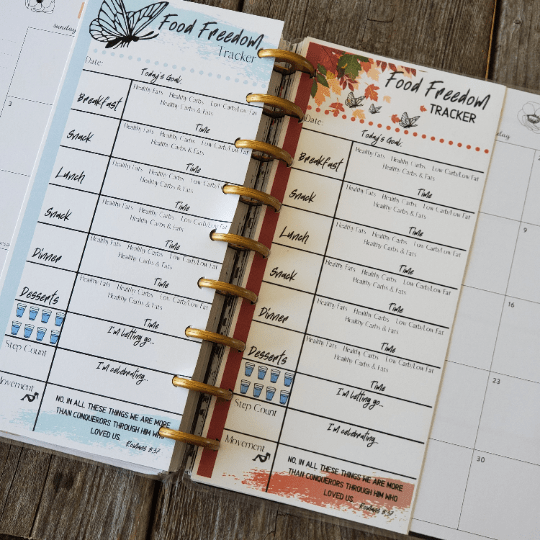 printable tracker in the Happy Planner