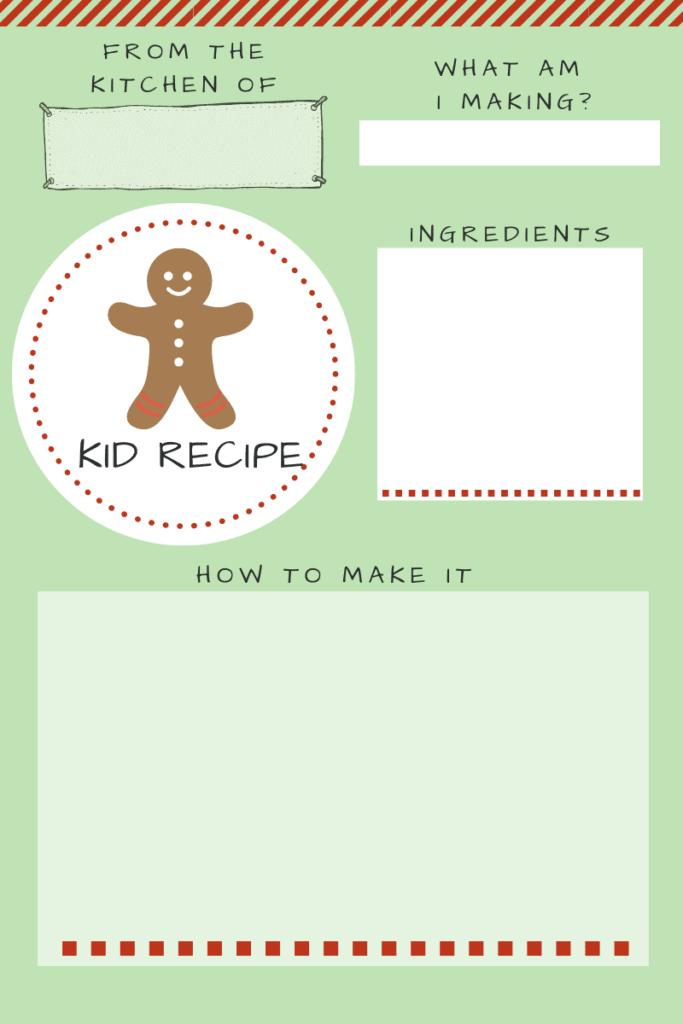 kid recipe cards