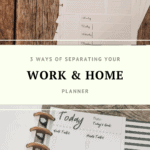 work and home planner