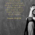 women struggling with scripture verses