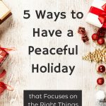 peaceful holiday with decorations surrounding