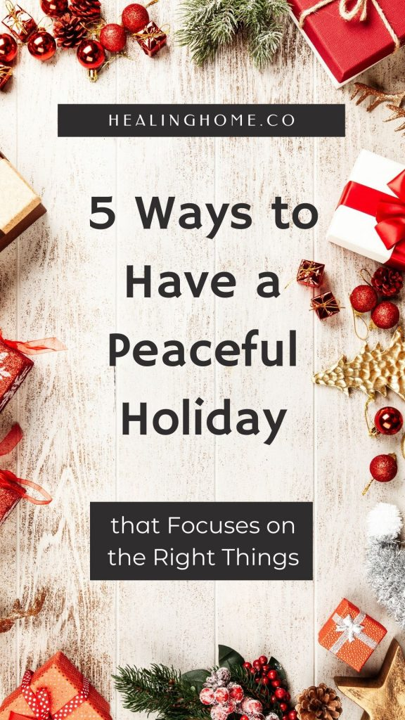 peaceful holiday